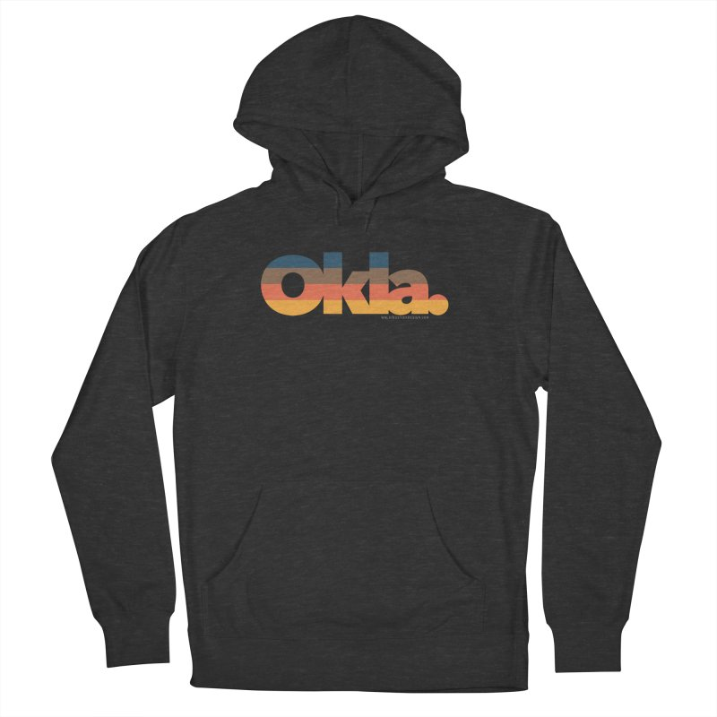 Oklahoma Sunset Men's French Terry Pullover Hoody by walkingstickdesign's Artist Shop