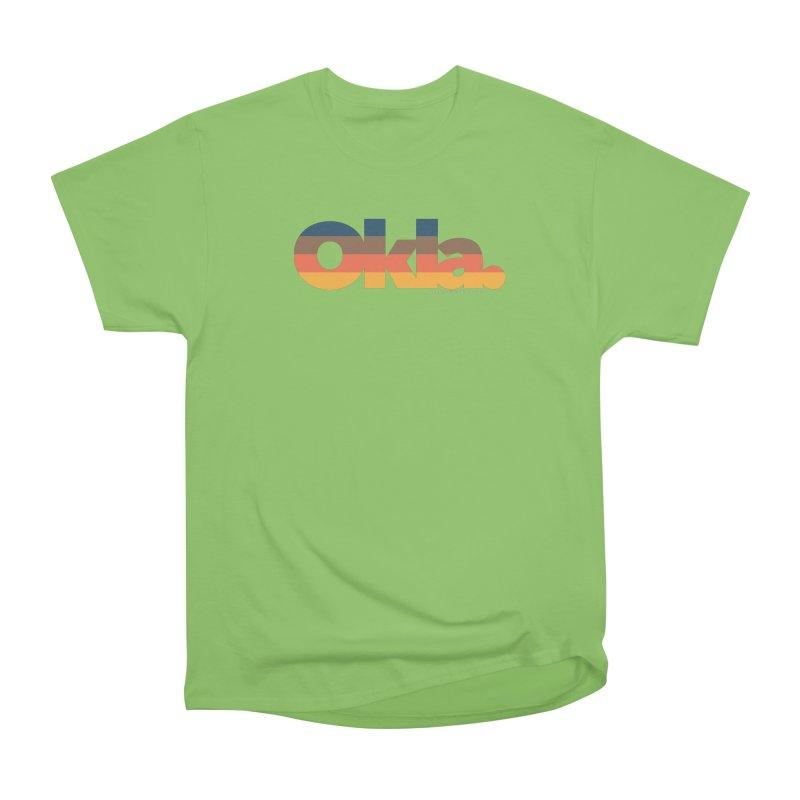 Oklahoma Sunset Women's Heavyweight Unisex T-Shirt by WalkingStick Design's Artist Shop