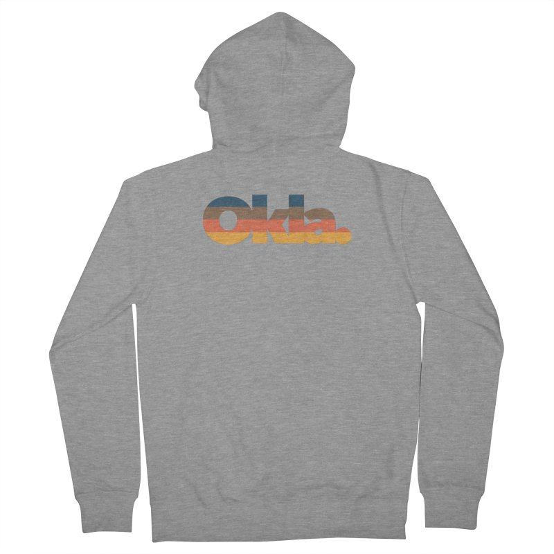 Oklahoma Sunset Women's French Terry Zip-Up Hoody by WalkingStick Design's Artist Shop