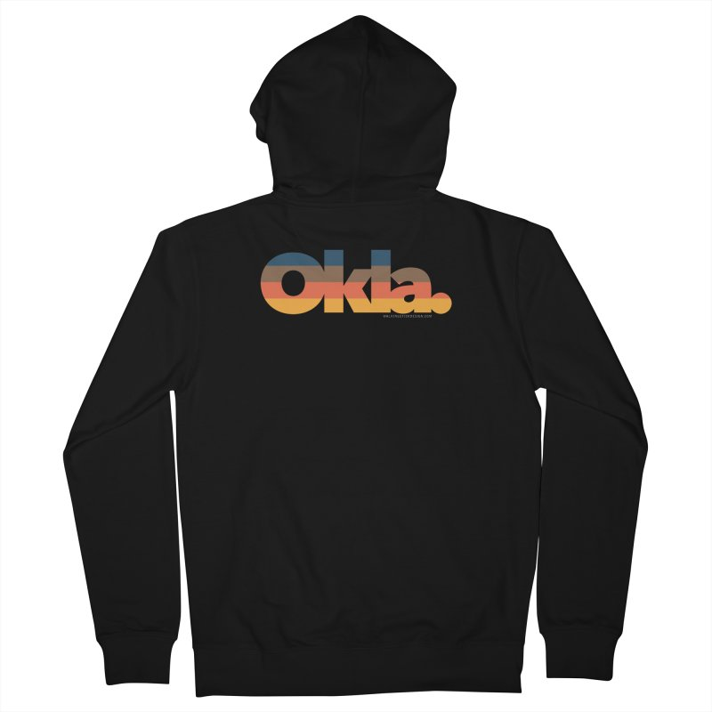 Oklahoma Sunset Men's French Terry Zip-Up Hoody by walkingstickdesign's Artist Shop