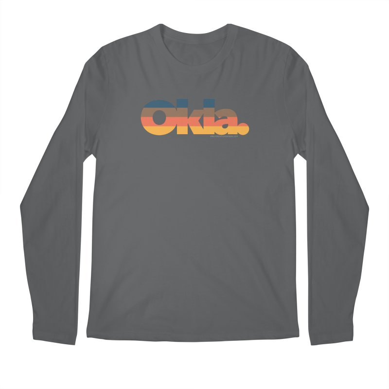 Oklahoma Sunset Men's Longsleeve T-Shirt by walkingstickdesign's Artist Shop