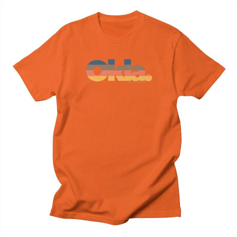 Oklahoma Sunset Men's Regular T-Shirt by WalkingStick Design's Artist Shop