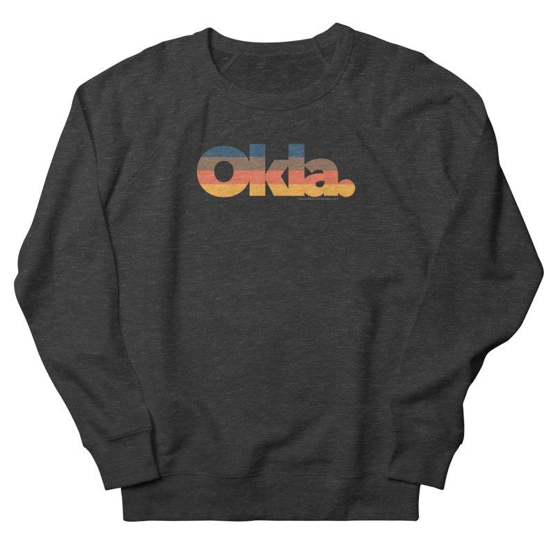 Oklahoma Sunset Women's French Terry Sweatshirt by WalkingStick Design's Artist Shop