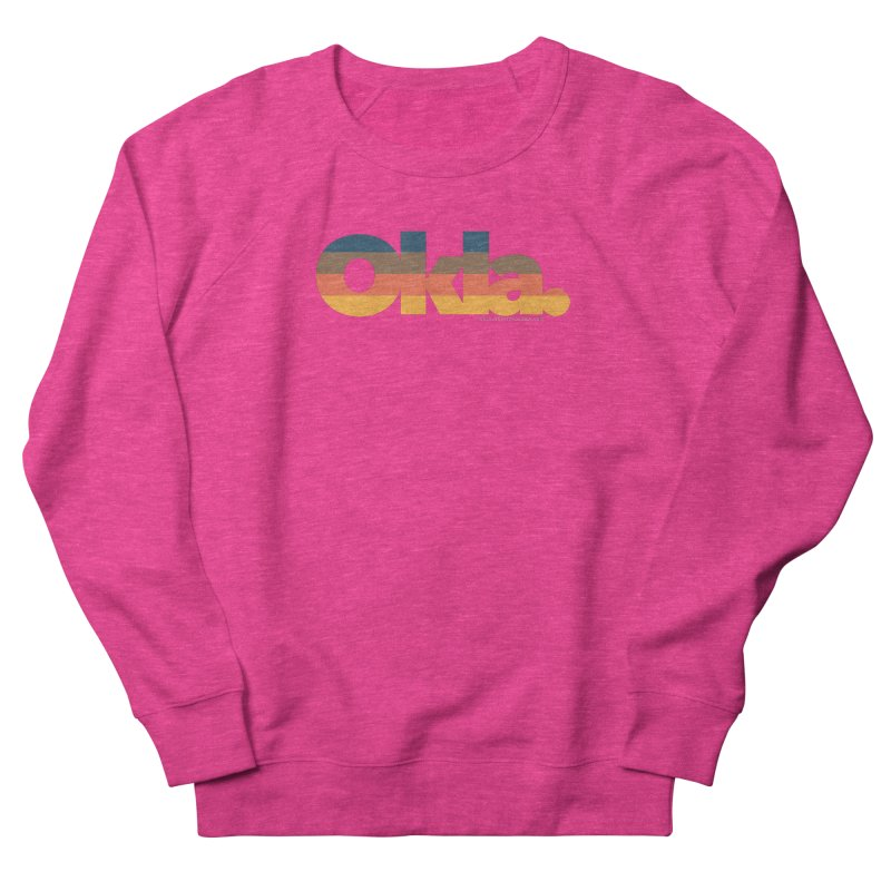 Oklahoma Sunset Women's French Terry Sweatshirt by WalkingStick Design's Artist Shop