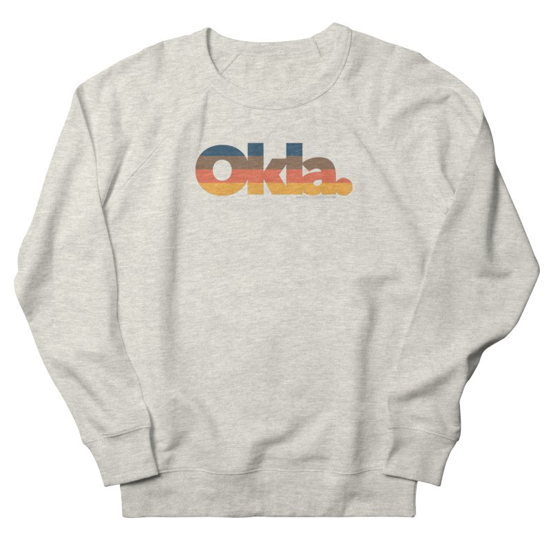 Oklahoma Sunset Men's French Terry Sweatshirt by WalkingStick Design's Artist Shop