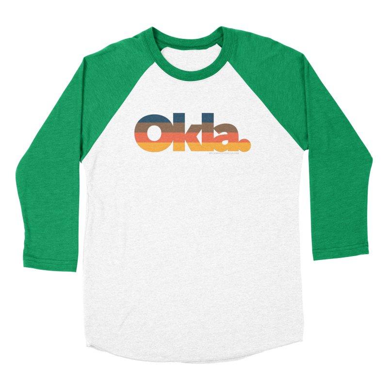 Oklahoma Sunset Women's Baseball Triblend Longsleeve T-Shirt by WalkingStick Design's Artist Shop