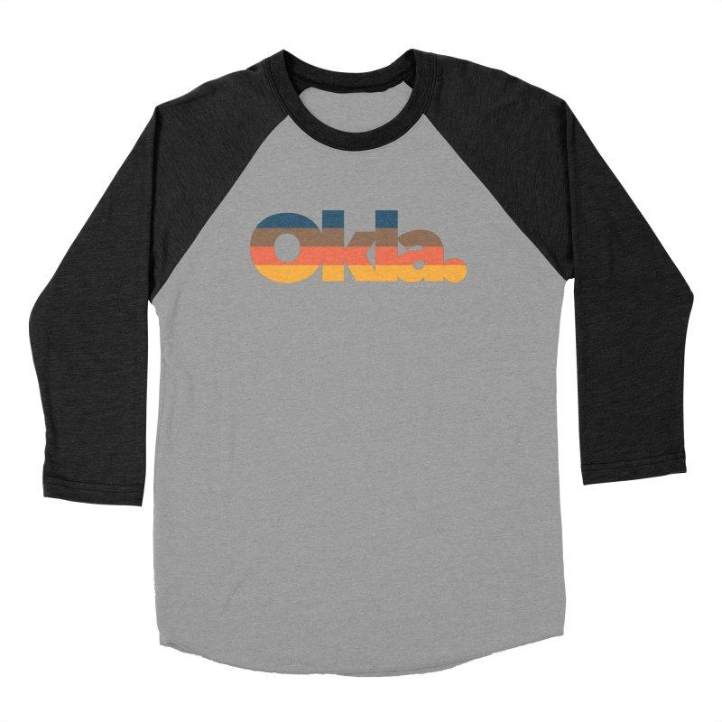 Oklahoma Sunset Women's Baseball Triblend T-Shirt by walkingstickdesign's Artist Shop