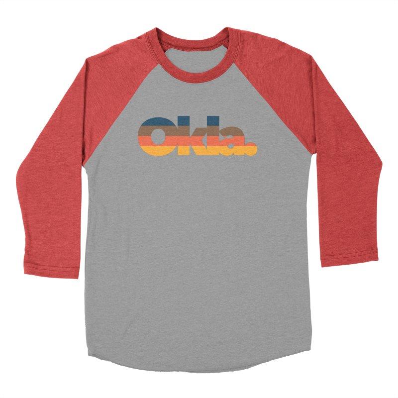 Oklahoma Sunset Men's Baseball Triblend Longsleeve T-Shirt by WalkingStick Design's Artist Shop