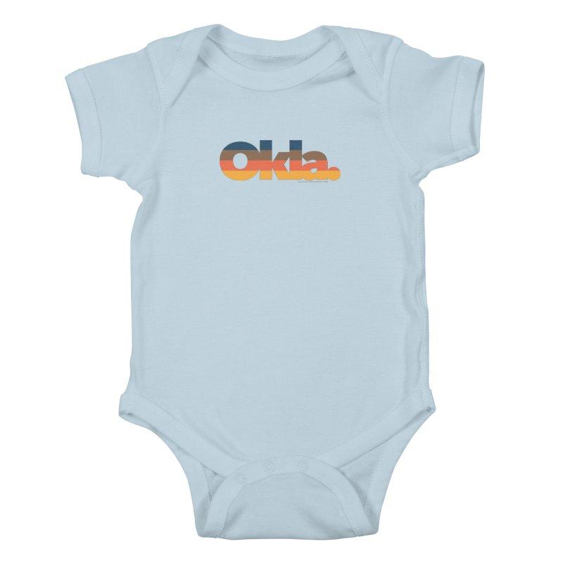 Oklahoma Sunset Kids Baby Bodysuit by WalkingStick Design's Artist Shop