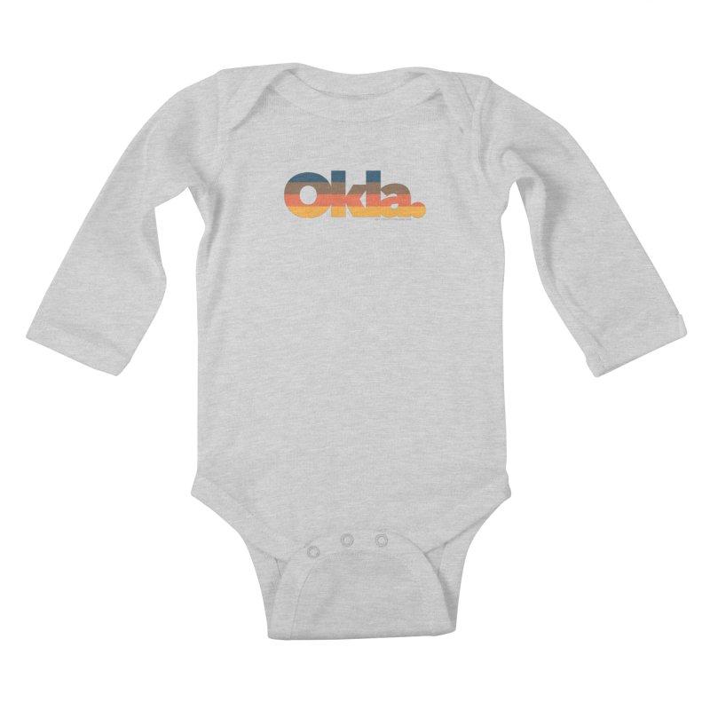 Oklahoma Sunset Kids Baby Longsleeve Bodysuit by WalkingStick Design's Artist Shop