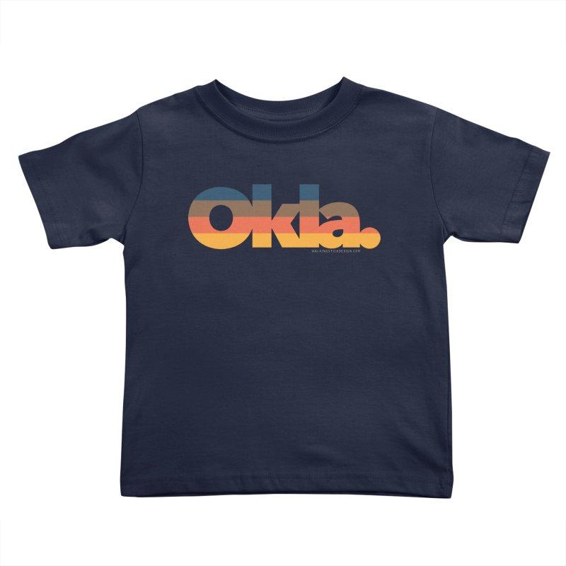 Oklahoma Sunset Kids Toddler T-Shirt by WalkingStick Design's Artist Shop