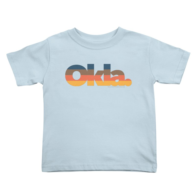 Oklahoma Sunset Kids Toddler T-Shirt by WalkingStick Design's Artist Shop