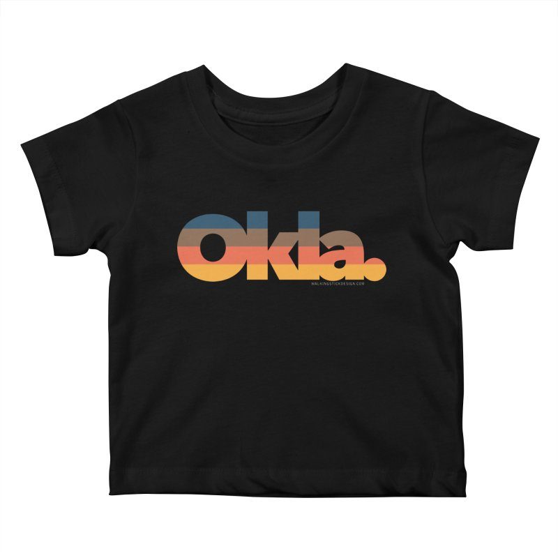 Oklahoma Sunset Kids Baby T-Shirt by WalkingStick Design's Artist Shop