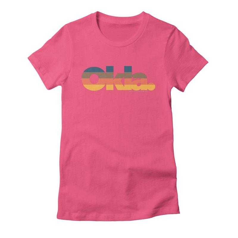 Oklahoma Sunset Women's T-Shirt by WalkingStick Design's Artist Shop