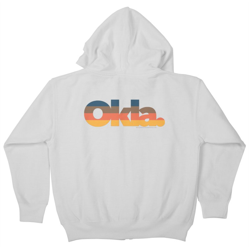 Oklahoma Sunset Kids Zip-Up Hoody by walkingstickdesign's Artist Shop