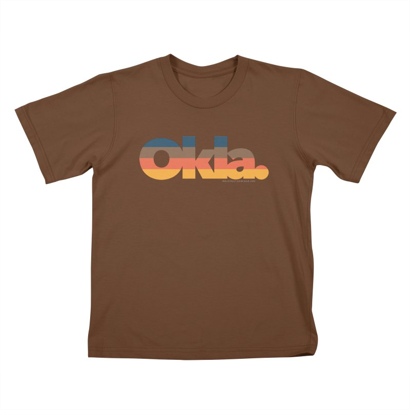 Oklahoma Sunset Kids T-Shirt by WalkingStick Design's Artist Shop