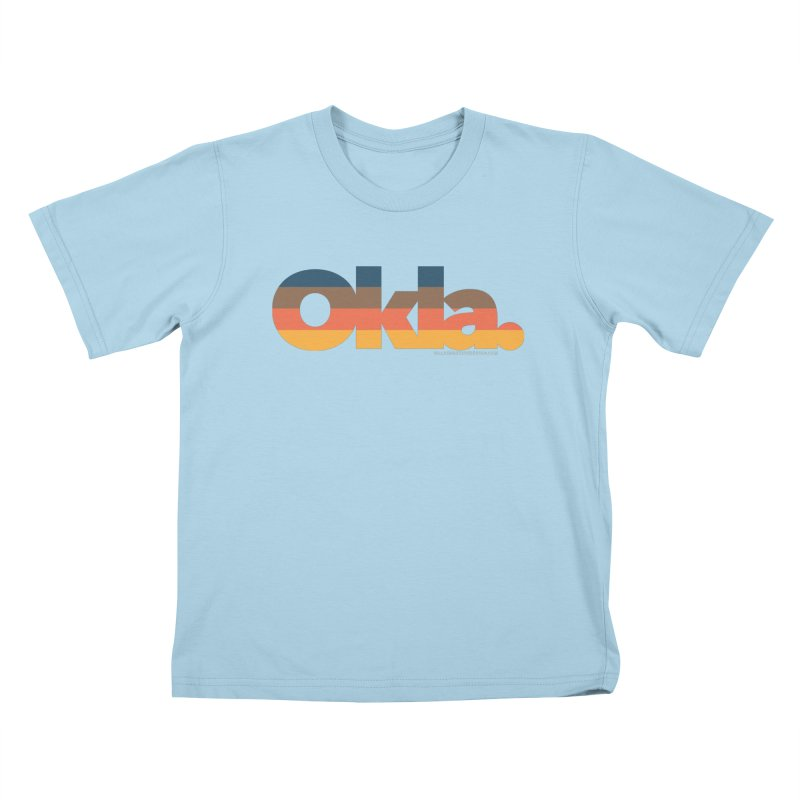 Oklahoma Sunset Kids T-Shirt by walkingstickdesign's Artist Shop