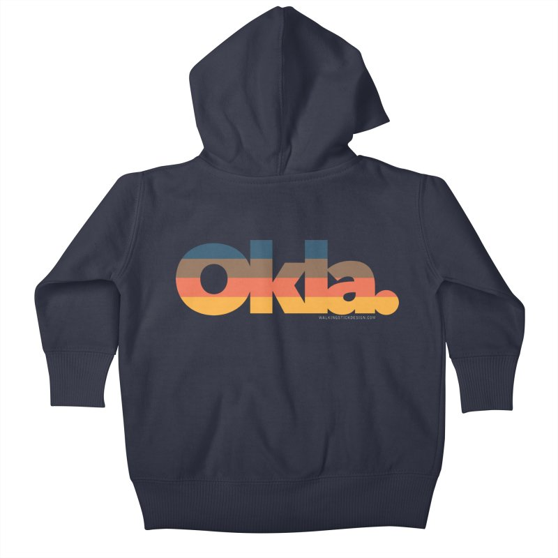 Oklahoma Sunset Kids Baby Zip-Up Hoody by WalkingStick Design's Artist Shop