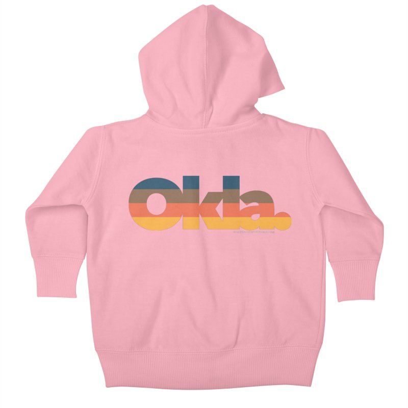 Oklahoma Sunset Kids Baby Zip-Up Hoody by walkingstickdesign's Artist Shop