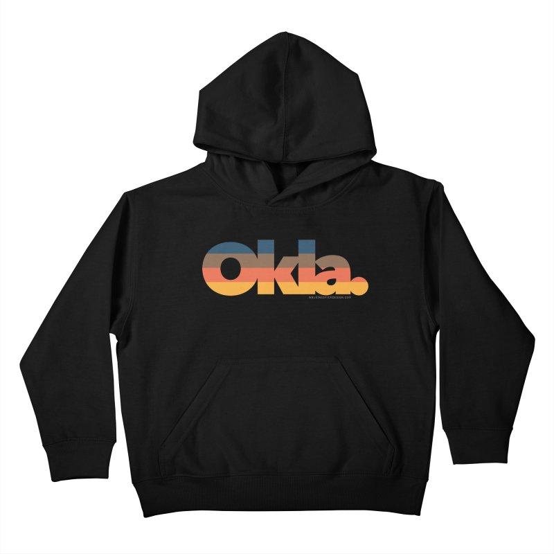 Oklahoma Sunset Kids Pullover Hoody by WalkingStick Design's Artist Shop