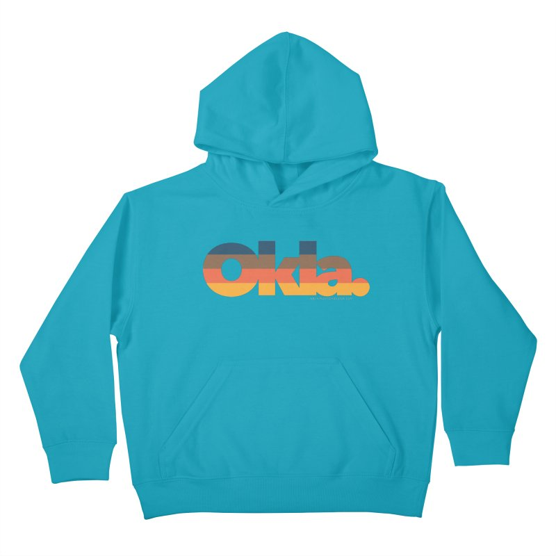 Oklahoma Sunset Kids Pullover Hoody by walkingstickdesign's Artist Shop