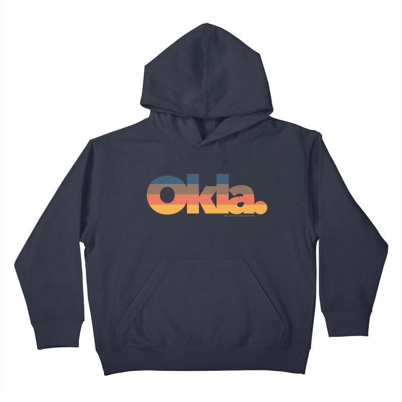 Oklahoma Sunset Kids Pullover Hoody by walkingstickdesign's Artist Shop
