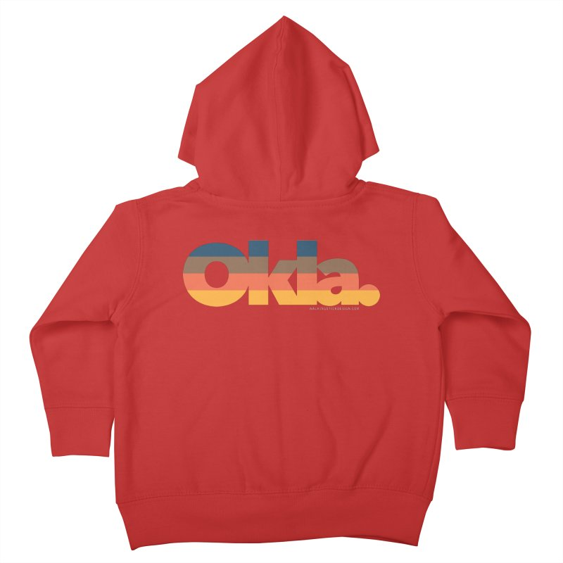 Oklahoma Sunset Kids Toddler Zip-Up Hoody by WalkingStick Design's Artist Shop