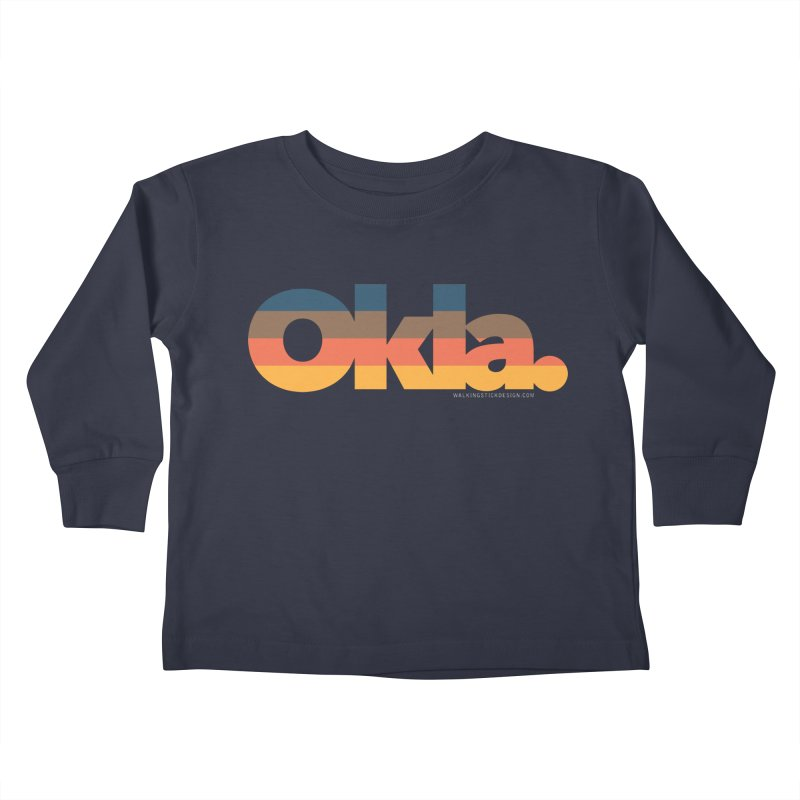 Oklahoma Sunset Kids Toddler Longsleeve T-Shirt by walkingstickdesign's Artist Shop