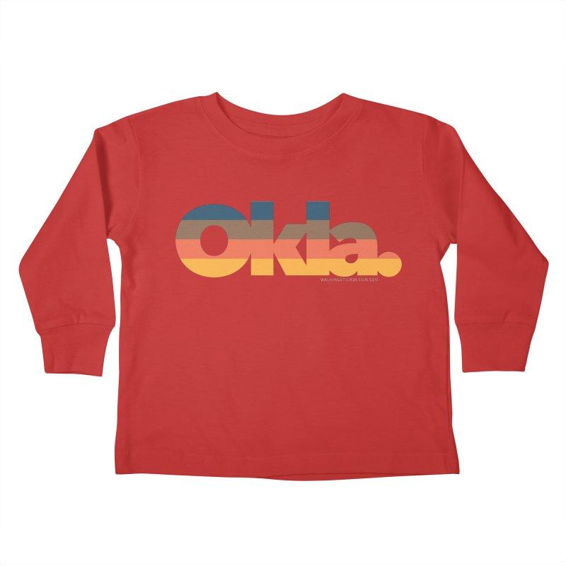 Oklahoma Sunset Kids Toddler Longsleeve T-Shirt by WalkingStick Design's Artist Shop