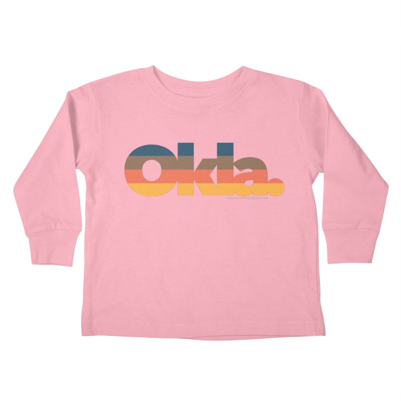 Oklahoma Sunset Kids Toddler Longsleeve T-Shirt by WalkingStick Design's Artist Shop