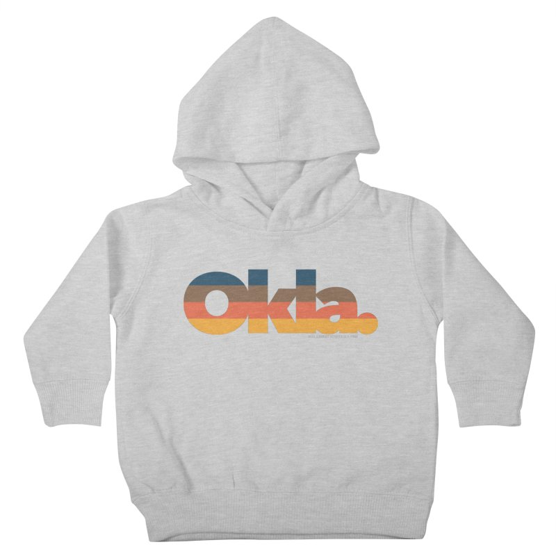 Oklahoma Sunset Kids Toddler Pullover Hoody by WalkingStick Design's Artist Shop