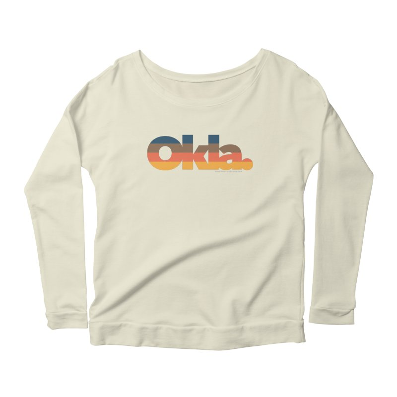 Oklahoma Sunset Women's Scoop Neck Longsleeve T-Shirt by WalkingStick Design's Artist Shop