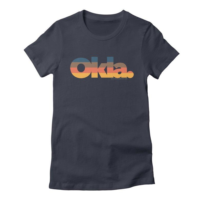 Oklahoma Sunset Women's Fitted T-Shirt by WalkingStick Design's Artist Shop