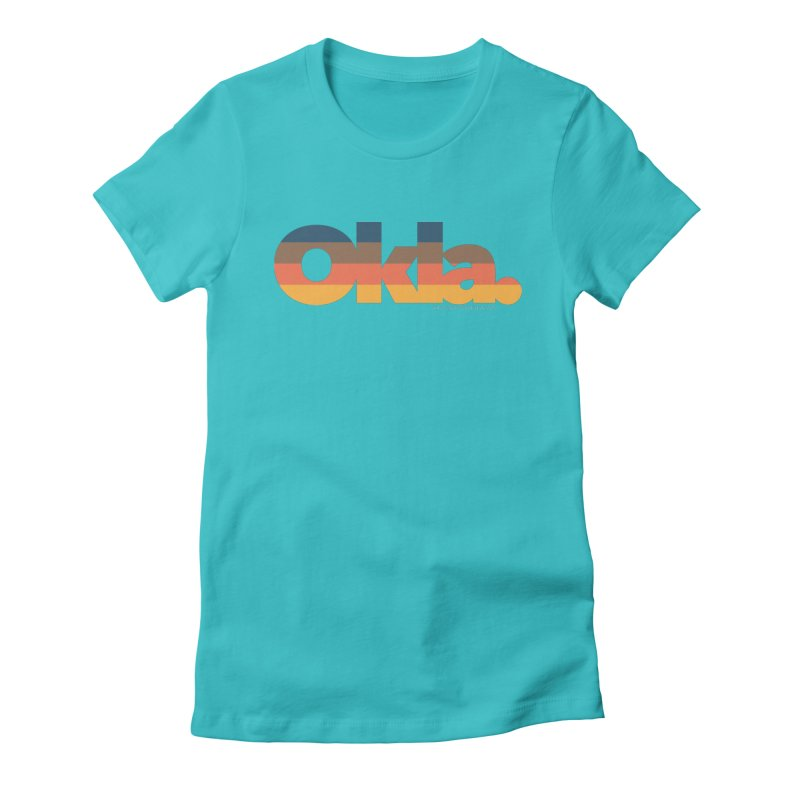 Oklahoma Sunset Women's Fitted T-Shirt by walkingstickdesign's Artist Shop