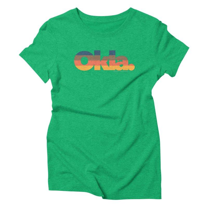 Oklahoma Sunset Women's Triblend T-Shirt by WalkingStick Design's Artist Shop