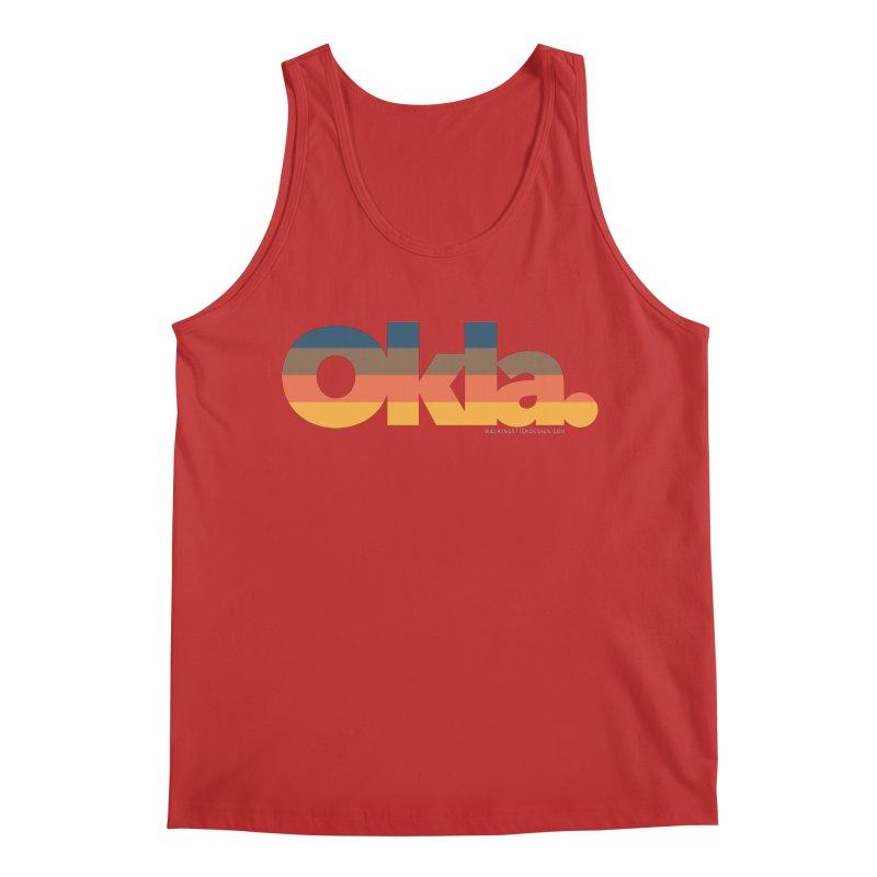 Oklahoma Sunset Men's Regular Tank by WalkingStick Design's Artist Shop
