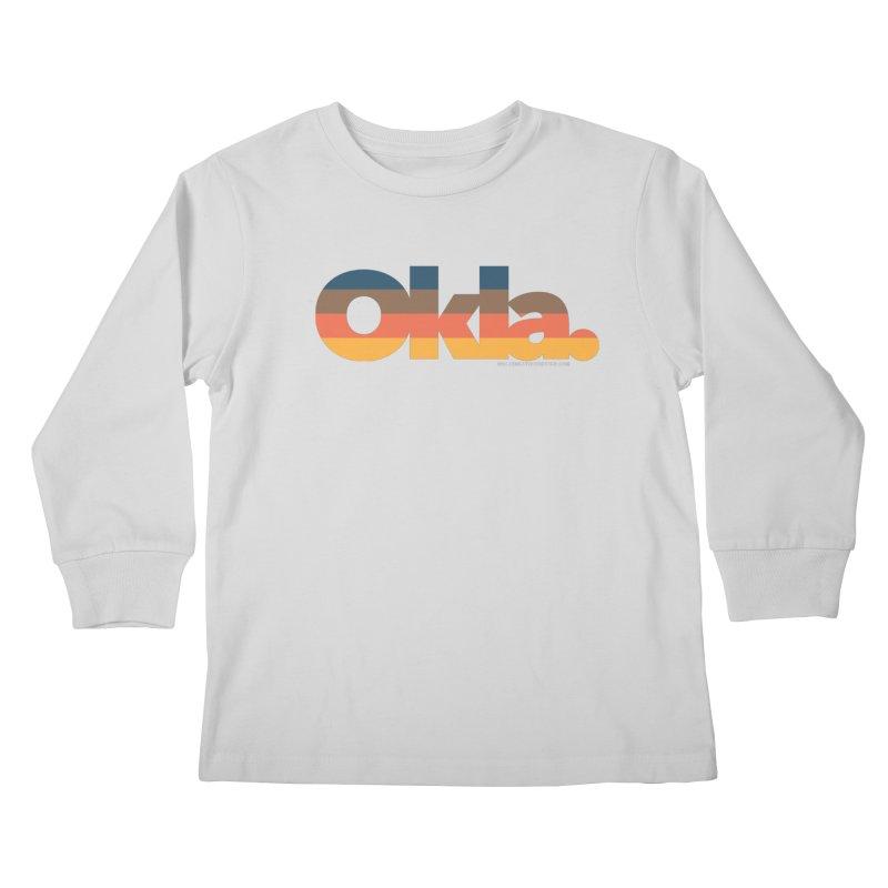 Oklahoma Sunset Kids Longsleeve T-Shirt by WalkingStick Design's Artist Shop