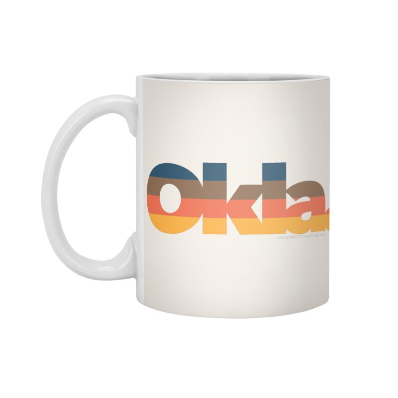 Oklahoma Sunset Accessories Standard Mug by WalkingStick Design's Artist Shop
