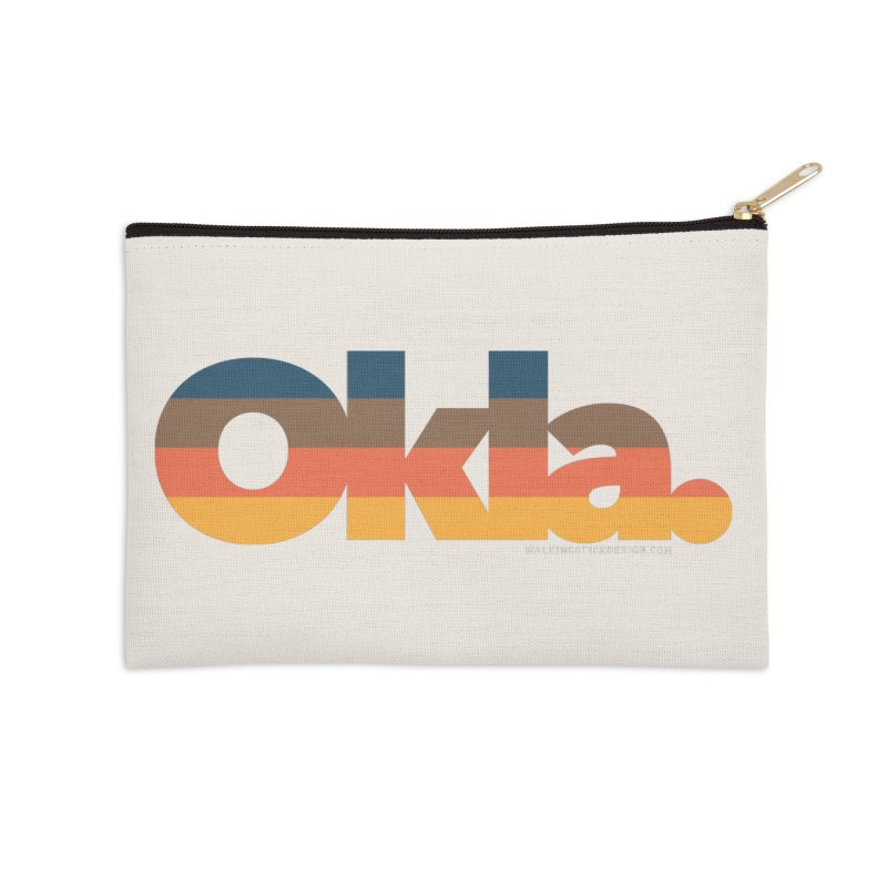 Oklahoma Sunset Accessories Zip Pouch by WalkingStick Design's Artist Shop