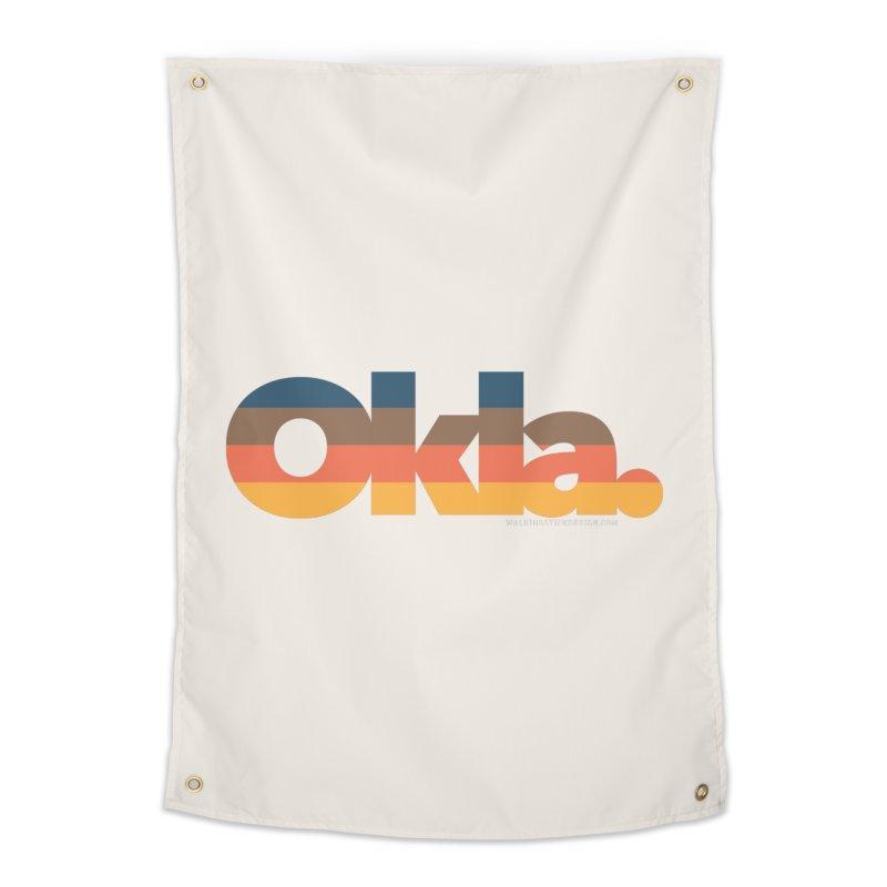 Oklahoma Sunset Home Tapestry by WalkingStick Design's Artist Shop