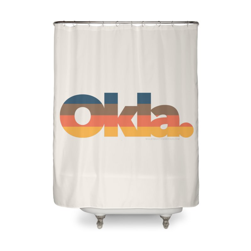 Oklahoma Sunset Home Shower Curtain by WalkingStick Design's Artist Shop