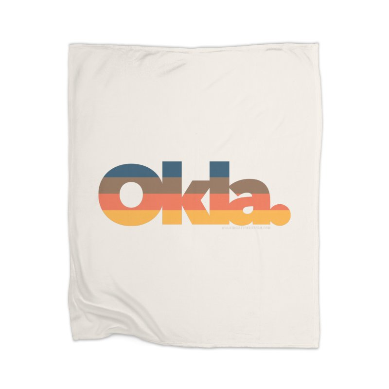 Oklahoma Sunset Home Blanket by WalkingStick Design's Artist Shop