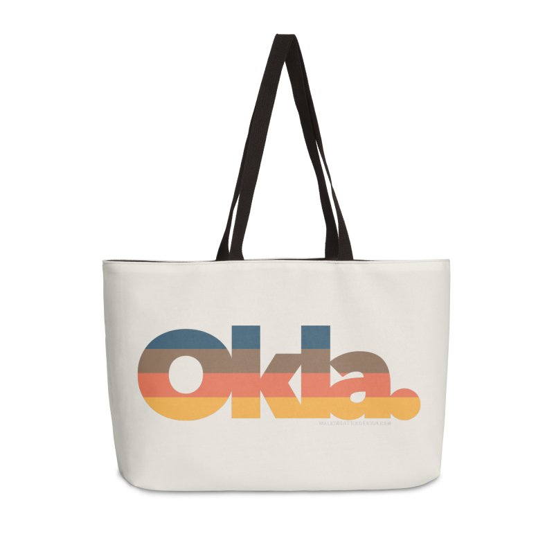 Oklahoma Sunset Accessories Weekender Bag Bag by WalkingStick Design's Artist Shop