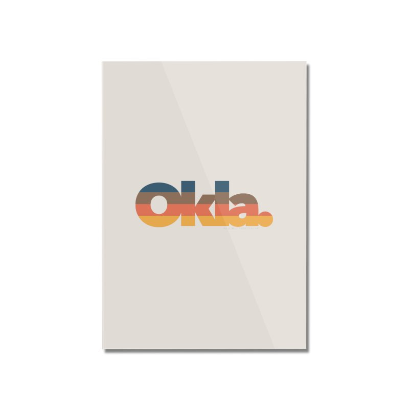 Oklahoma Sunset Home Mounted Acrylic Print by WalkingStick Design's Artist Shop
