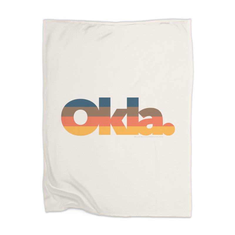 Oklahoma Sunset Home Blanket by WalkingStick Design's Artist Shop