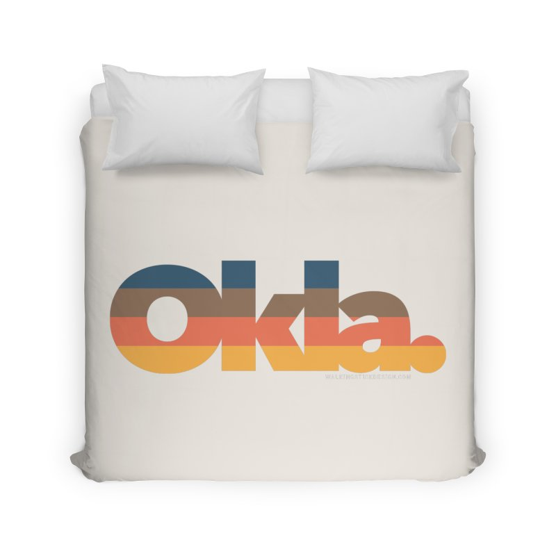 Oklahoma Sunset Home Duvet by walkingstickdesign's Artist Shop