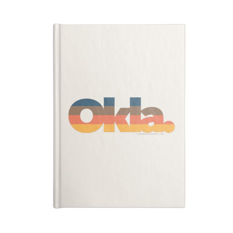 Oklahoma Sunset Accessories Notebook by walkingstickdesign's Artist Shop