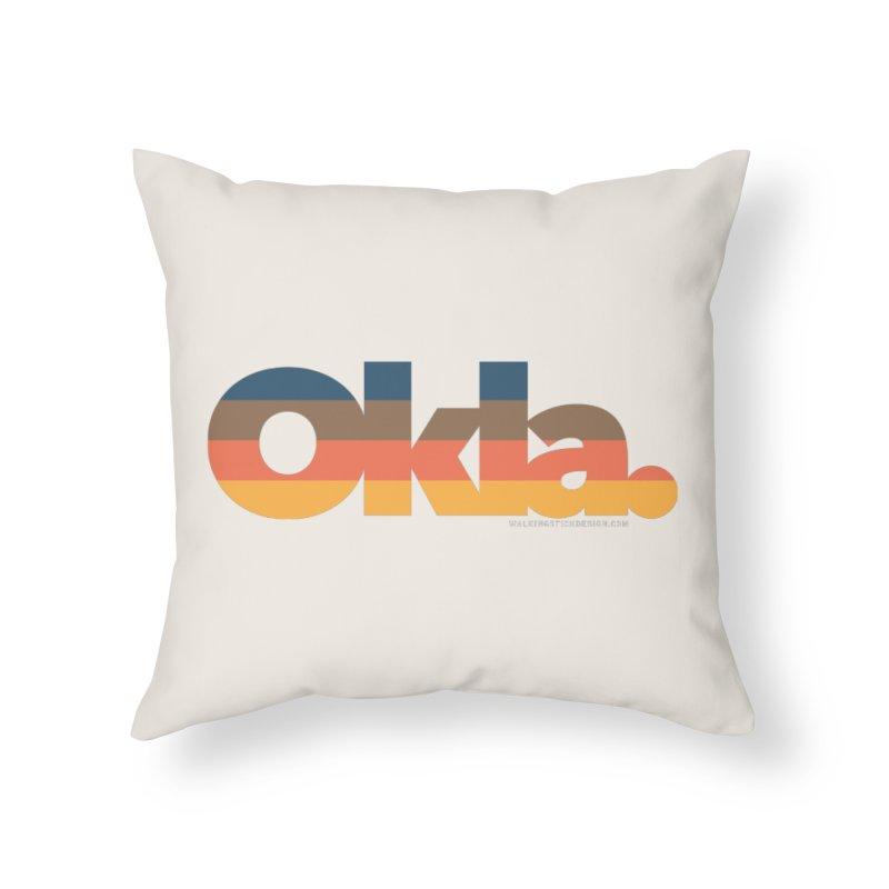 Oklahoma Sunset Home Throw Pillow by walkingstickdesign's Artist Shop