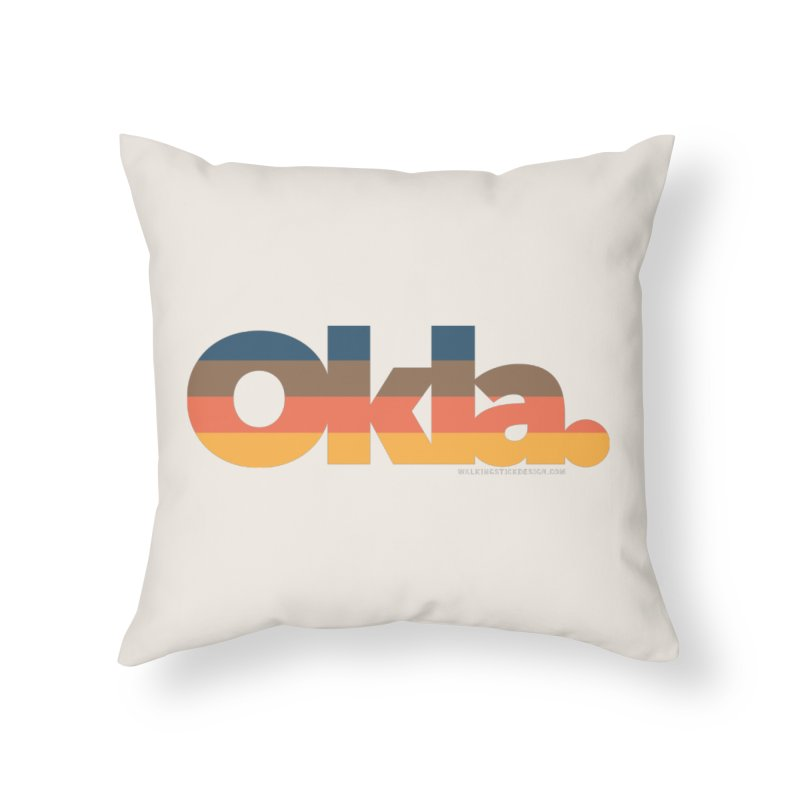 Oklahoma Sunset Home Throw Pillow by WalkingStick Design's Artist Shop