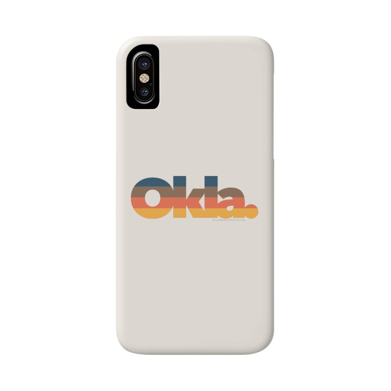 Oklahoma Sunset Accessories Phone Case by walkingstickdesign's Artist Shop